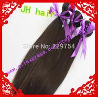 Natural Color Hair Weft 100g/pcs 4pcs Lot  mixd length in stock 100% Human Hair Brazilian Virgin Remy Hair  Free shipping