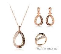 fashion cheap antique silver jewelry set, Tz-1320