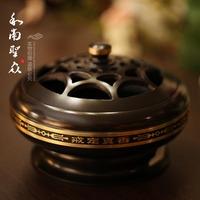 Buddhism supplies incense stove incense burner plate sandalwood furnace incense burner copper incense burner