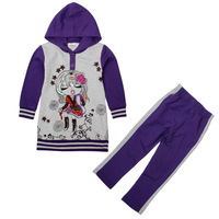 Children Hoodies Nova Baby & Kids Girls Wear Clothing Set Printed Cartoon Girl Zipper Spring Autumn Girls  Clothing Set