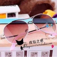 2014 Real Top Fashion Oculos De Sol Masculino Cool Children Metal Sunglasses Personality Baby Fashion Ultraviolet Decorative