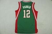 Free Shipping,2014-2015 season Milwaukee basketball jersey #12 Parker basketball jersey