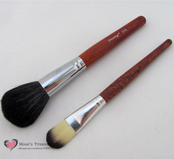 NEW Professional 2PCS Large Makeup Mineral Blush Powder Foundation Definer Brush Cosmetic Brushes 315 313 Drop Shipping(China (Mainland))