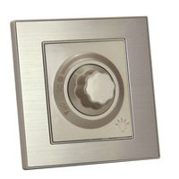 Dimmer switch panel brushed champagne gold statue extravagant series