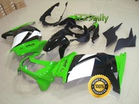 Popular Design 08 09 For Kawasaki NINJA 250 10 Motorcycle Fairing Cowl Green White Black FFKKA001