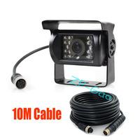 18 IR CCD 4 Pin 12V Color Car Reverse Reversing Backup Camera Wide View Night Vision Waterproof + 10m 4 Pin cable