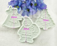 3pcs Christmas Mold Cake Sugarcraft Fondant Cookies Cutter Decorating Tools