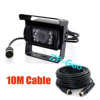 18 IR CCD 4 Pin 12V Color Car Reverse Reversing Backup Camera Wide View Night Vision Waterproof + 10m 4 Pin cable 10pcs/lot