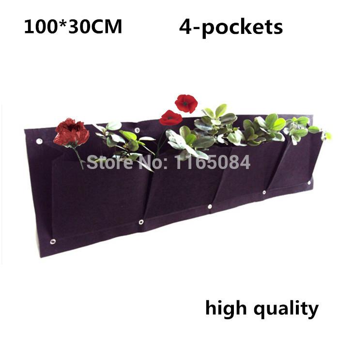 4 bolsos 400 g / m2 Vertical Garden Planter montado na parede de jardinagem flor plantar Bags(China (Mainland))