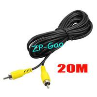 20M 65FT AV To AV RCA to RCA AV VIDEO Extension Cable For Reversing Camera Long Truck bus 50pcs/lot