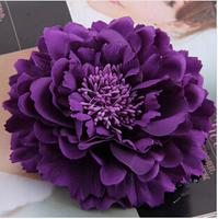 2014 New Free shipping high-grade fabric flower corsage brooch big flower corsage  beautiful flower head hairpin headdress