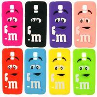 3D cute bean mm rainbow silicon case for Samsung Galaxy S5 i9600 original back cover
