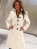 Free shipping 2014 fashion winter women long design woollen&blends trench coats outwear for women l1243