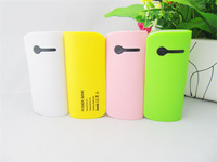 100PCS/lot Small pretty waist 2th Power Bank 5600mAh USB External Backup Battery Pack Charger With retail packaging