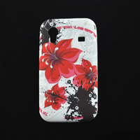 Beauty Flower Fly Butterfly Protective Soft TPU GEL Back Case Skin Cover for Samsung Galaxy Ace S5830 GT-S5830