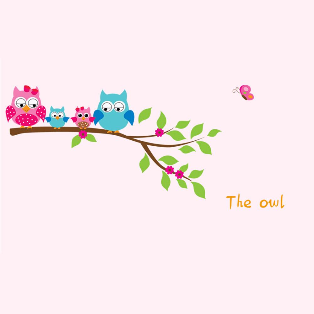 Cartoon Cute Happy Owl Animated Owls Wallpaper