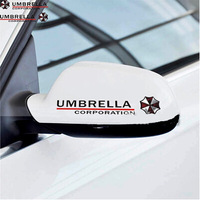 Free Shipping 2PCS(1Pair) Car Stickers, Umbrella Car Styling ,Cool Waterproof On Rear Windshield Door Rearview Mirror Sticker
