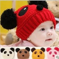 Funny winter hat Toddler Girls Boys Knitting Cap Cartoon Lovely Panda Crochet Beanies baby hat Wool Knitted Hats child caps