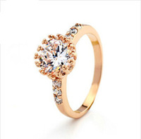 Full of small zircon Rhinestone Crystal alloy ring Jewelry
