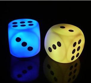 Novelty Lighting Dice Colorful Night Light Bar - Restaurant - Hotel decorative lamps dance activities props - sieve(China (Mainland))