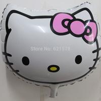 20pcs/lot  54*54cm hello kitty  cat head cute cartoon foil balloon  party decoration toys for children Arrangements