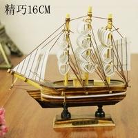 Wood sailing boat birthday gift girls decoration