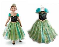 Retail 2014 Baby girls full dress  princess dress Cotton Dress  Lace Baby short sleeve Chiffon Dress Kids +  shawl Party Wear