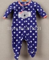 new arrival  baby girl   Romper, Carter newborn girl  Long Sleeve dotted elephant  Jumpsuit, 0-9m girl sleep and playwear