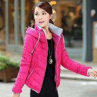 REAL PHOTO 2014 new winter influx Slim Korean short paragraph cotton candy-colored coat 908l L,XL,XXL,XXXL