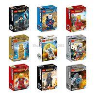 Wholesale 180pcs Building Blocks Super heroes Iron Man Mark 1 35 16 IRON PATRIOT Action Figures Minifigures children Bricks toys