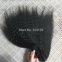 kinky straight new arrive coarse human hair weave / weft high quality 100% brazilian virgin human hair extension 2pc a lot