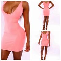 2014 New Vestidos Summer New Fashion Women Sleeveless V-neck High Waist Bodycon Bandage Dress Celebrity Midi Casual Dresses
