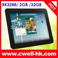 PIPO P1 Tablet PC RK3288 Quad Core Multi-tasking Running 9.7 Inch Retina IPS Screen Android 4.4 Kitkat OS 2GB RAM Bluetooth GPS
