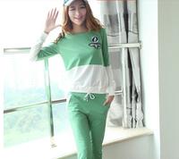 2014 new arrival 2pcs/set (sweatshirt , pants) women casual hoodies sportswear hoodie suit tracksuit 4 colors M L XL