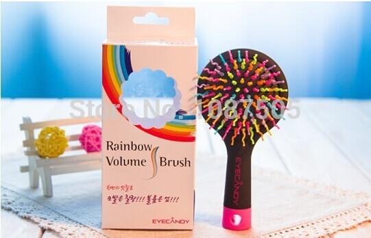 FREE SHIPPING!!!EYECANDY Rainbow S Curl Air Volume Brush /goody hair brushes(China (Mainland))