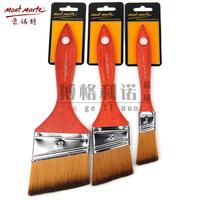 3Pcs/Set Nickel Plated Nylon Hair Oblique Head Painting Brush Scrubbing Brush Pen Oil Acrylic Paint Brush Art Supplies