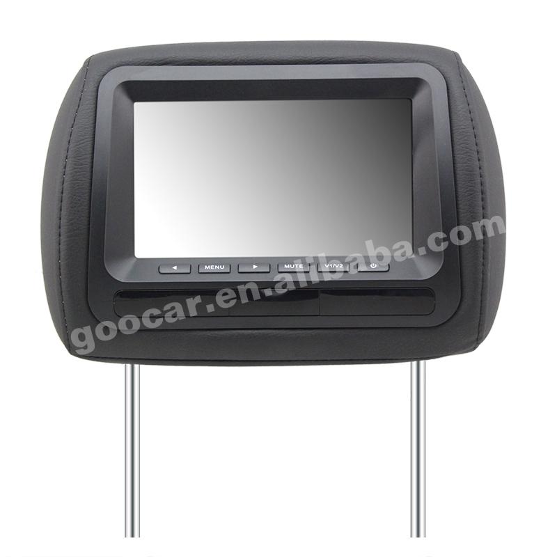 GC-665-AV black color car monitor with headrest pillow(China (Mainland))