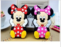 Cute Disny Cartoon Mickey Minnie Mouse Silicon Phone Case for Apple iphone 4 4S 5 5S