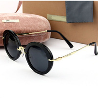 2014 European and American fashion star models retro round sunglasses ladies sunglasses glasses high quality