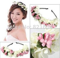 fascinators Festival Wedding Bridal princess crown elsa frozen  tiara bridal hair bands Flower Garland hair accessories for wome