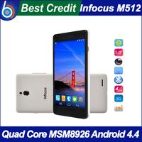 Original Foxconn Infocus M512 4G FDD LTE Mobile Phone MSM8926 Quad Core Android 4.4 5.0'' HD IPS 1GB 4GB ROM OTG/Oliver