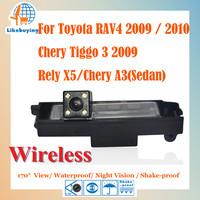 Wireless 1/4 Color CCD HD Rear View Camera For Toyota RAV4 2009 2010 Chery Tiggo 3 2009 / Rely X5 / Chery A3 (Sedan)