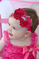 2014 Free Shipping New Baby Infant Toddler Headband shabby Flower HairBand tiara Crown Headwear Baby hair accessories 9pcs/lot