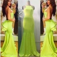 2014 New Vestidos Summer New Fashion Women Mermaid Sleeveless Floor Length Ruffle Bodycon Bandage Dress Celebrity Casual Dresses