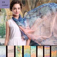 Free Shipping 2014 New Fashion autumn -summer Pure silk Scarf  Silk Shawl scarves 19 styles size 177cm*105cm