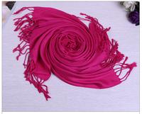 JLB 70*175cm Free Shipping 2014 New Fashion Women's Scarf winter Wrap Cotton Solid shawl Pashmina tassels scarves