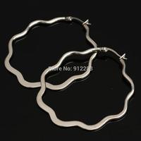 2014 HOT SALE NEW SUPPER DEAL Flat Bloom Stainless Steel Dangle Earrings 10paris/lot,Fashion Earrings