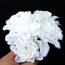 Wholesale 5Pcs NEW White HAIR FLOWER CLIP PIN FOR BRIDAL WEDDING PROM PARTY GIRL WOMEN