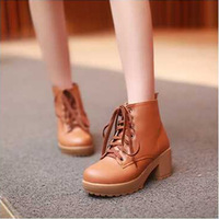 2014 new winter women shoes fashion thick restoring ancient ways high-heeled boots  fSzt