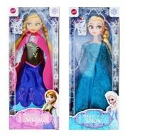 2014 Hot Sale Frozen Figure Play Princess Anna Elsa Classic Toy Frozen Toys Dolls With Retail Box